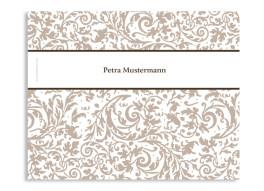 Windlicht Rokko Weiß als Hochzeitstischkarte