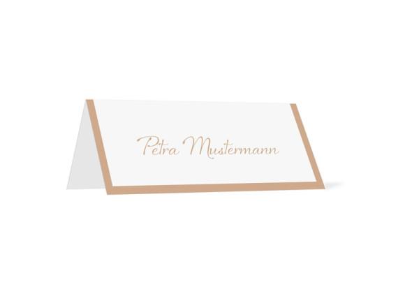 Tischkarten zur Hochzeit Verona (Klappkärtchen quer)