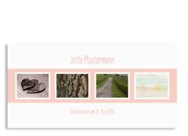 Dankeskarten zur Konfirmation Jette/Jannik FRESH Apricot