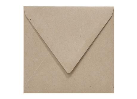 quadratische Umschläge 125 x 125 mm in fluting grey