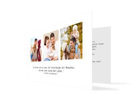 Neujahrskarte Blickwinkel Weiß