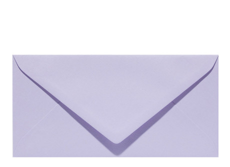 Umschlag im Format DL (220 x 110 mm), mauve