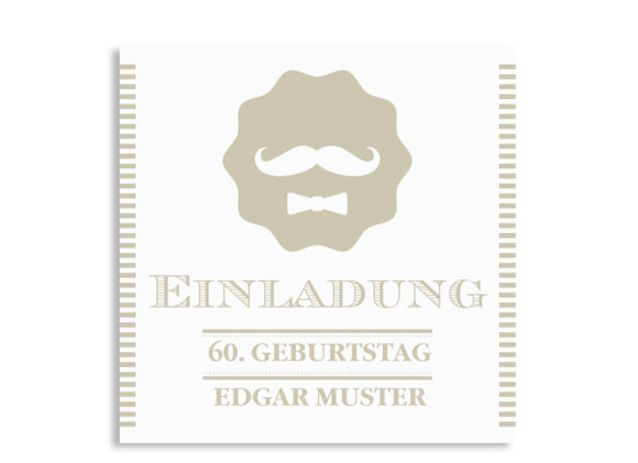 Einladungskarten Gentleman (quad. Postkarte)