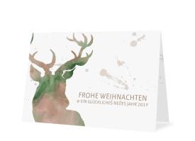 Weihnachtskarte Hubertus Braun