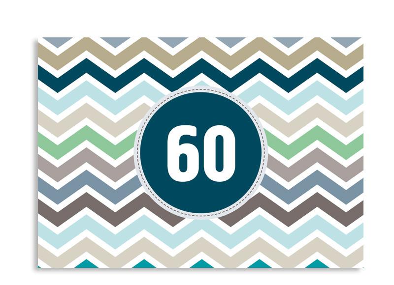 einladungen 60 geburtstag zigzag familiensache. Black Bedroom Furniture Sets. Home Design Ideas