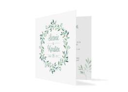 Hochzeitseinladung Blätterkranz