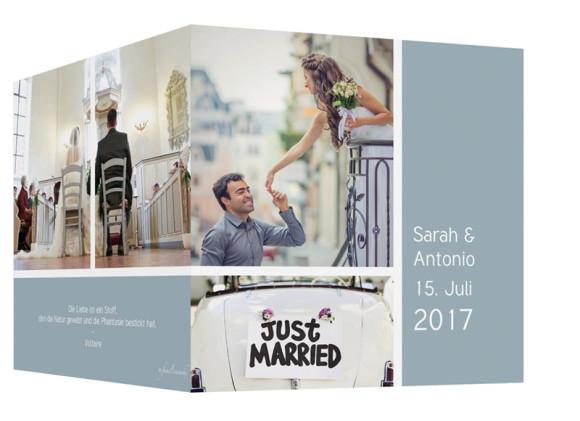 Danksagung zur Hochzeit Boxes, Außenansicht in Petrol