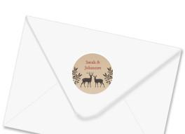 Adressetiketten zur Hochzeit Hirsch