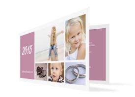 Neujahrskarten Efie/Eddy (Klappkarte DL) Brombeer
