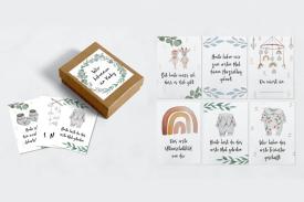"""Meilensteinkarten Schwangerschaft """"Sweet Watercolor"""""""