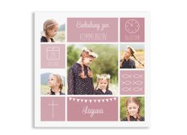 """Kommunionseinladungen """"Bildreich"""" (Quadratische Postkarte)"""