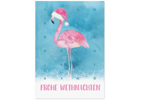 Foto-Adventskalender Flamingo Blau