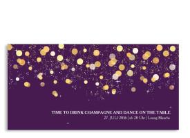 Einladungskarten Schillernd (Postkarte) Brombeer