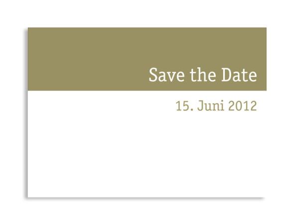 Save-The-Date-Hochzeitskarte Colour (Postkarte A6)