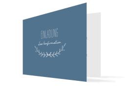 """Konfirmationseinladungen """"Zweig"""" (Klappkarte mit Foto)"""