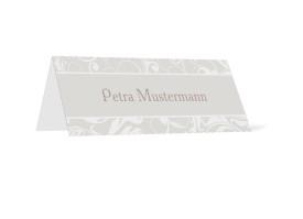 Tischkarten zur Hochzeit Dubai (Klappkärtchen) Beige