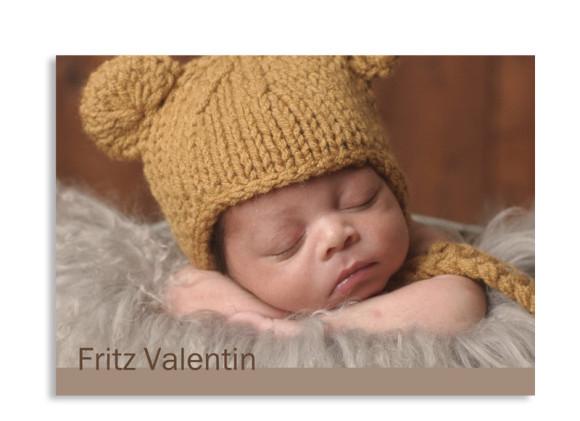 Geburtskarte Frida/Fritz (Postkarte)