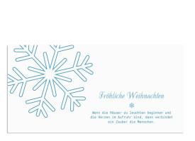 Weihnachtskarte Eiskristall (Postkarte) Blau