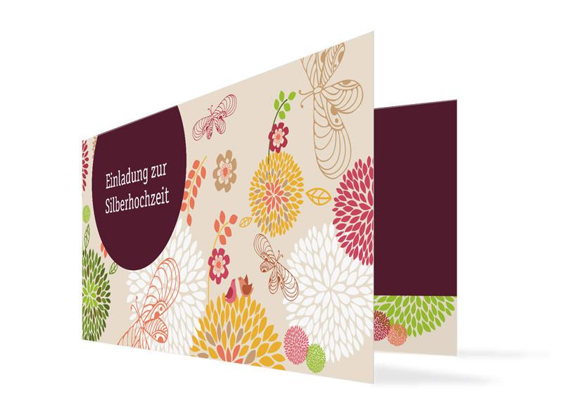 einladungskarten zur silberhochzeit online gestalten: lissabon, Einladung