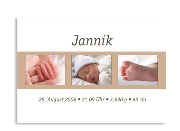 Geburtskarte Jette/Jannik (Postkarte)