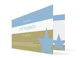Hochzeits-Danksagungskarte New York (Klappkarte) Blau/Oliv