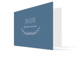 """Kommunionseinladungen """"Zweig"""" (Klappkarte mit Foto)"""
