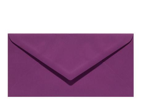 Umschlag DIN Lang aubergine
