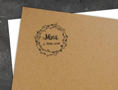 Geburtsstempel Mina/Moritz