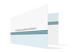 Einladung zur Goldhochzeit Cardiff (Klappkarte) Blau