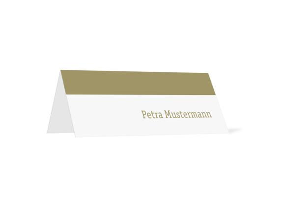 Tischkarten für Hochzeit Colour (Klappkärtchen quer)