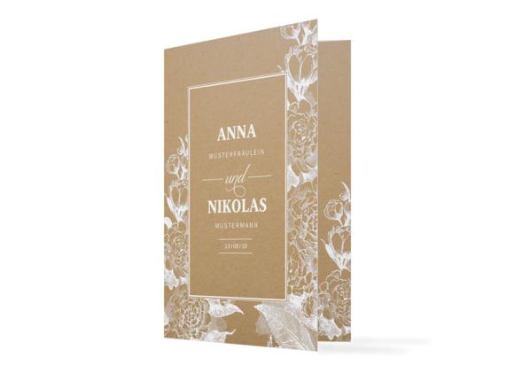 """Einladungskarte zur Hochzeit """"Bukarest Natural"""""""