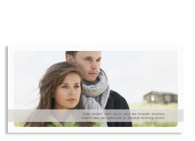 Einladungskarten zur Hochzeit Trondheim Hellgrau