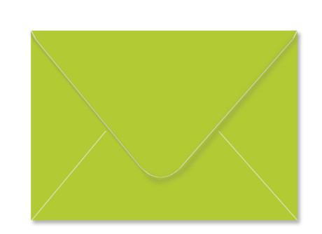 Umschlag im Format C6 (162 x 114 mm), apfelgrün