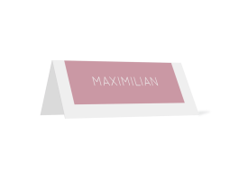 "Tischkarten ""Salzburg"" altrosa"