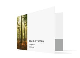 Trauerkarten Wald (C6-Klappkarte) Braun/Weiß