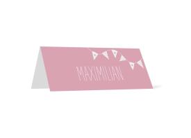 "Tischkarte ""Malmö"" rosa"