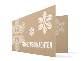 Weihnachtskarten Eissterne Weiß