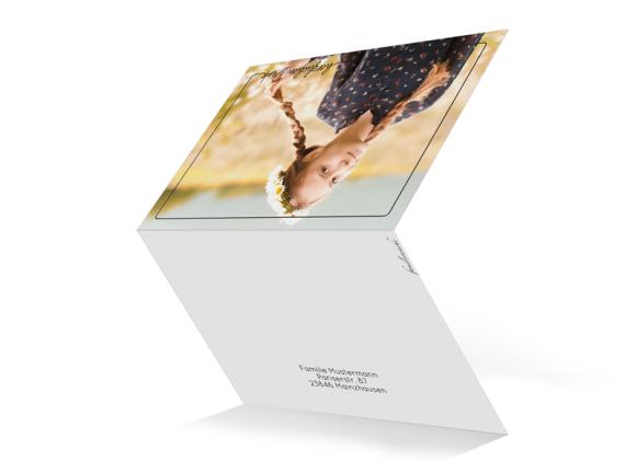 Dankeskarte als Klappkarte C6 quer, Motiv: Kraftvoll, Aussenansicht, Farbvariante: schwarz