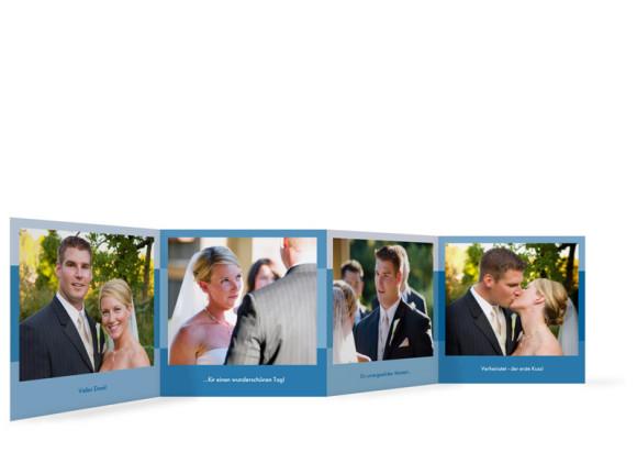 Innenansicht Foto-Leporello, Gastgeschenk, Motiv Stockholm, Farbversion: blau