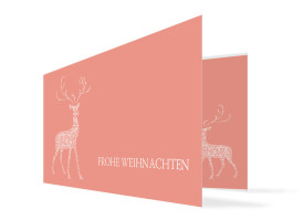Weihnachtskarte Holy Deer Apricot