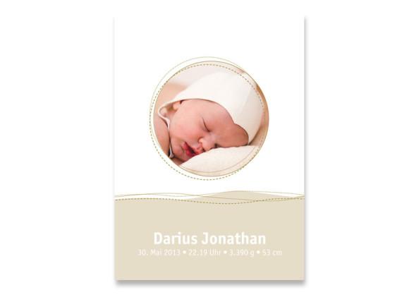 Geburtskarte Deborah/Darius (Postkarte)