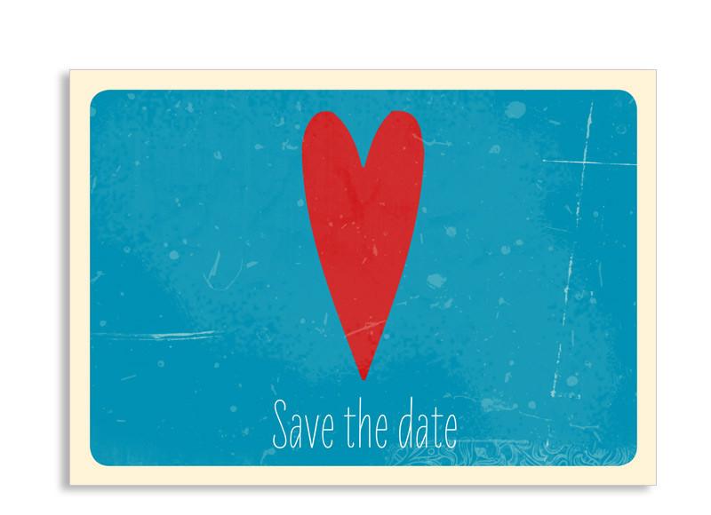 save the date karte vintage heart postkarte selbst gestalten. Black Bedroom Furniture Sets. Home Design Ideas