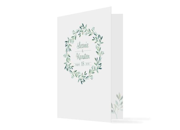 """Einladungskarte Hochzeit """"Blätterkranz"""""""