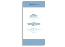 Menükarten zur Hochzeit Klassik (DIN Lang-Karte) Blau