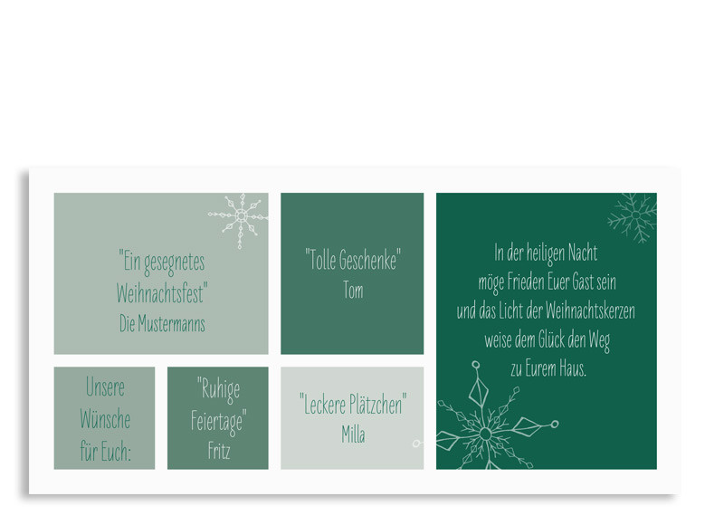 karte zu weihnachten weihnachtsgr e familiensache. Black Bedroom Furniture Sets. Home Design Ideas