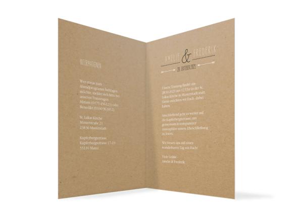 Einladung Hochzeit (Klappkarte C6), Motiv: Rotterdam Natural, Innenansicht, Farbvariante: schwarz