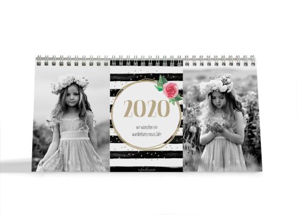 Choose your Pics Fotokalender, Motiv: Rosenkranz, Innenansicht, Farbvariante: beige