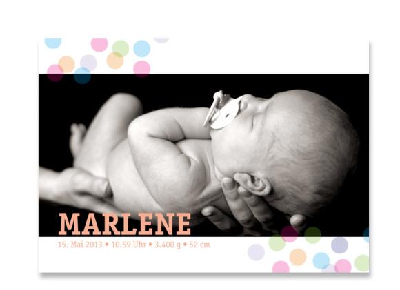 Babypostkarte Marlene/Marlon