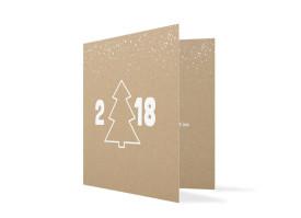 Firmen-Weihnachtskarte Jahresbaum Weiß