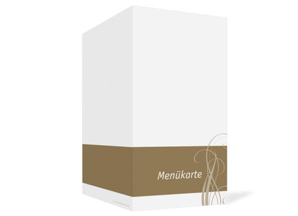 Außenansicht, Menükarte zur Hochzeit (Klappkarte), Motiv Dublin, Farbversion: beige
